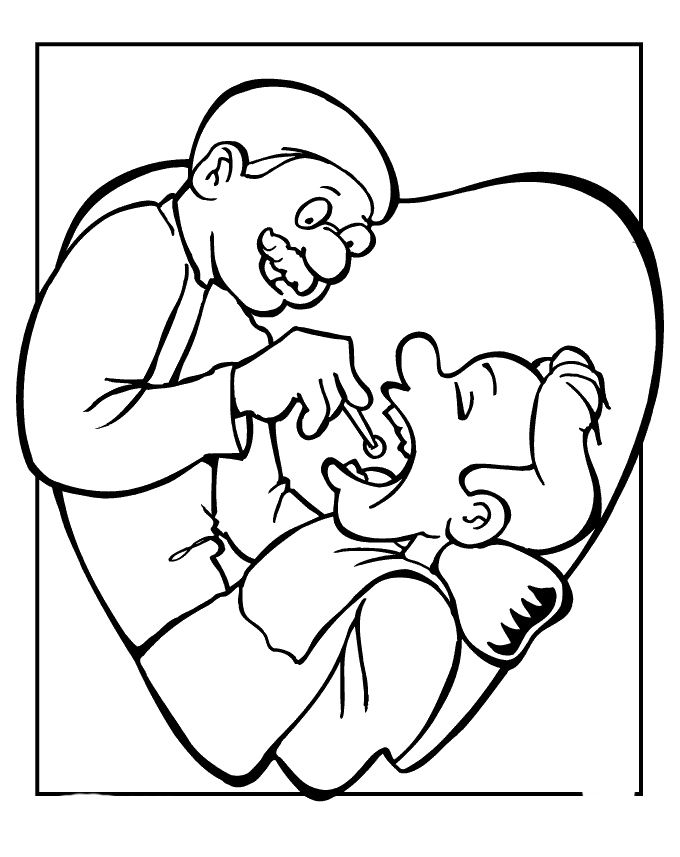 Dental Hygiene For Colouring Pages Dental Hygiene Coloring Pages
