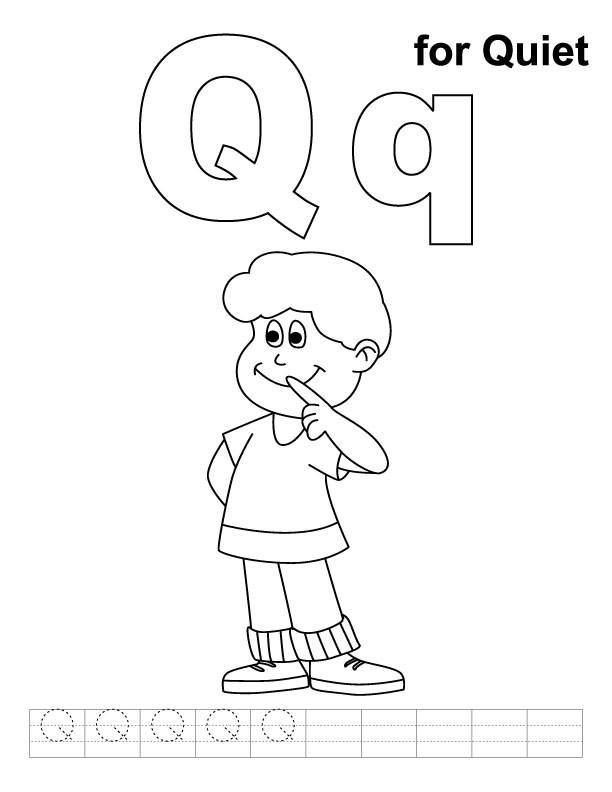 Letter Q Coloring Pages Az Coloring Pages Coloring Pages Q