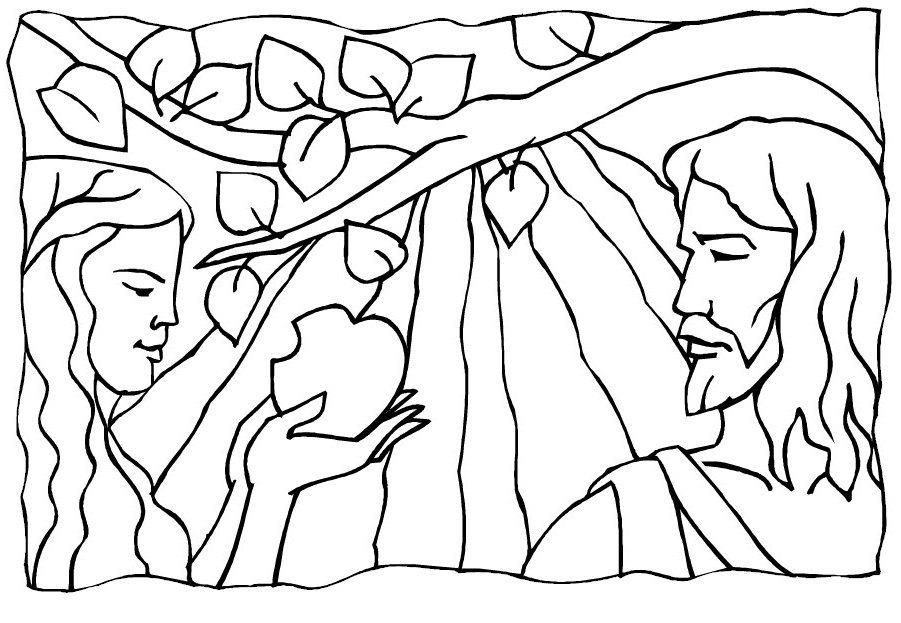 coloring pages adam and eve - photo#11