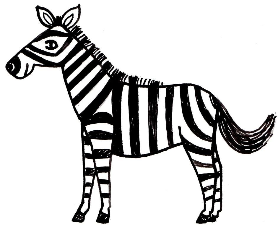 Cartoon zebra coloring pages printable zebra coloring Coloring book zebra