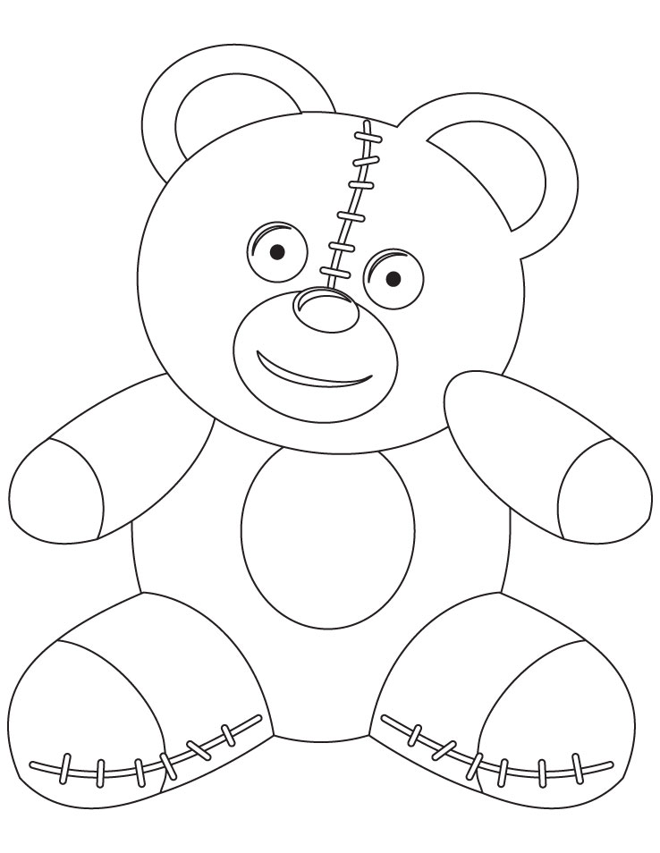 teddy bear coloring page | Download Free teddy bear coloring page