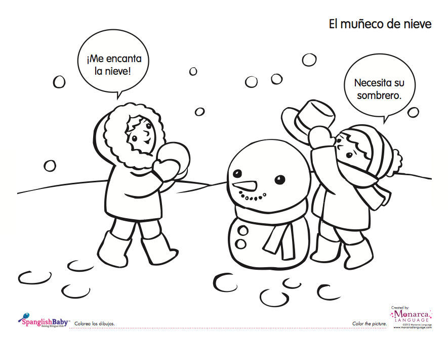 Snowy Day Coloring Page Coloring Home