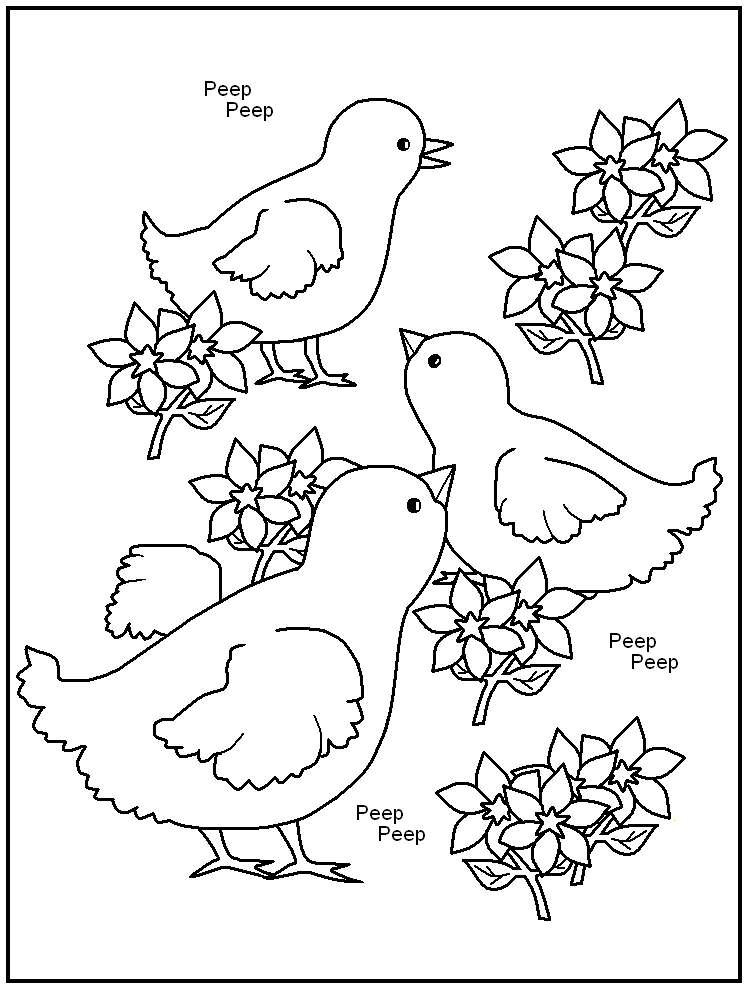 free happy easter coloring pages | RYNAKIMLEY