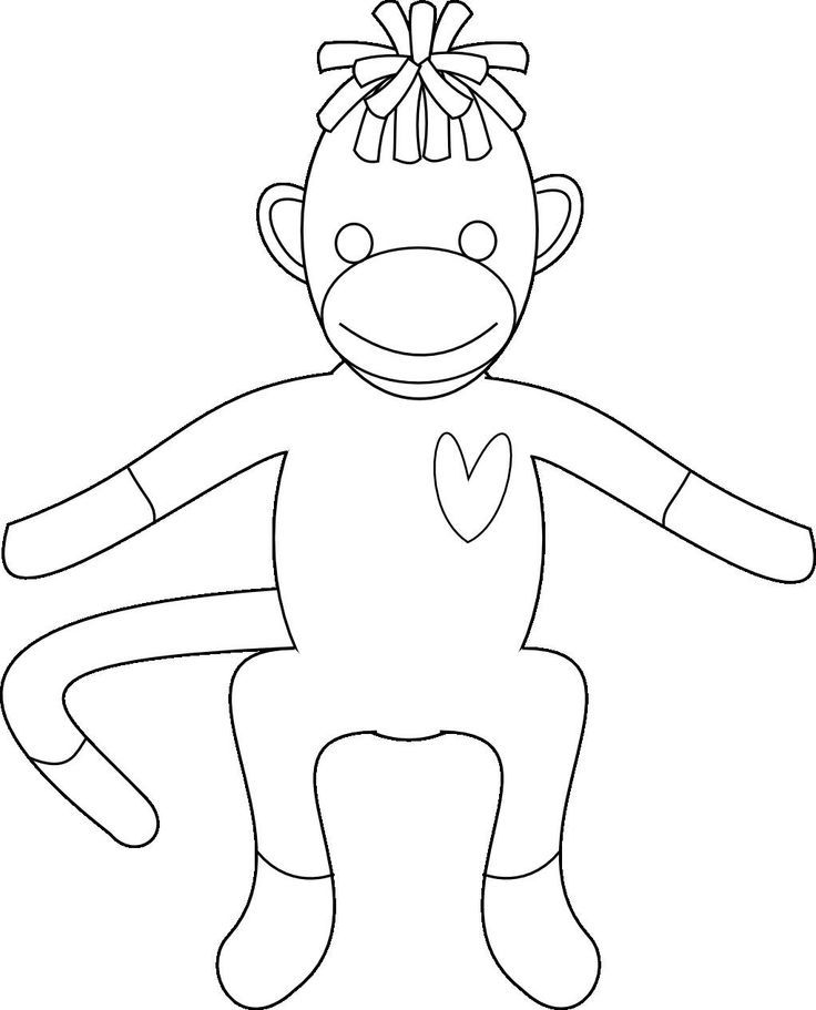ava coloring pages | Pin By Alisha Duval On Sock Monkey Stuff For Ava ...