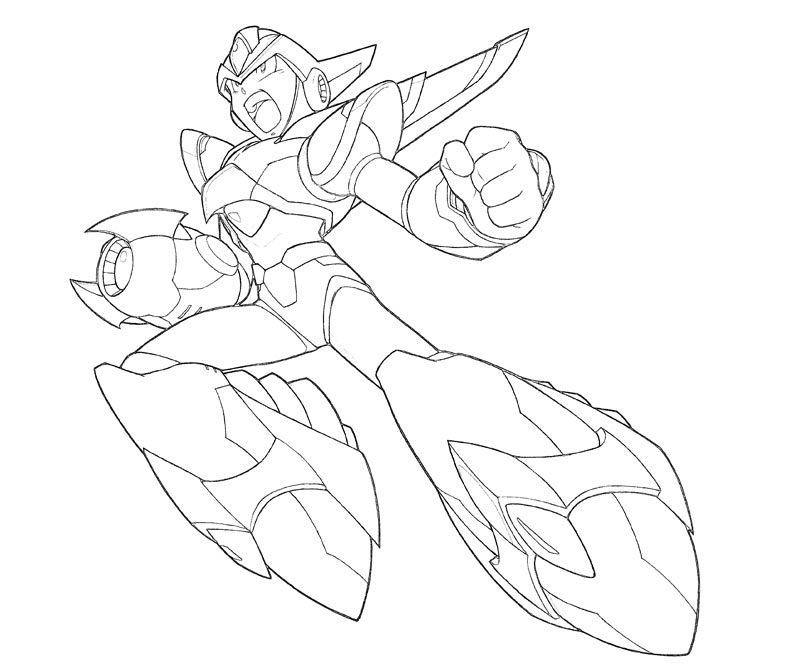 megaman coloring pages for kids and for adults