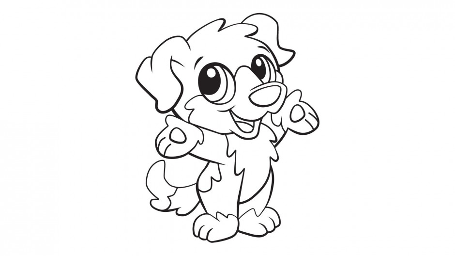 Pluto The Dog Coloring Pages