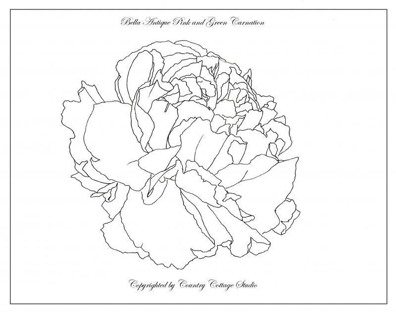 Pink Flower Line Drawing : Web page color palette az coloring pages