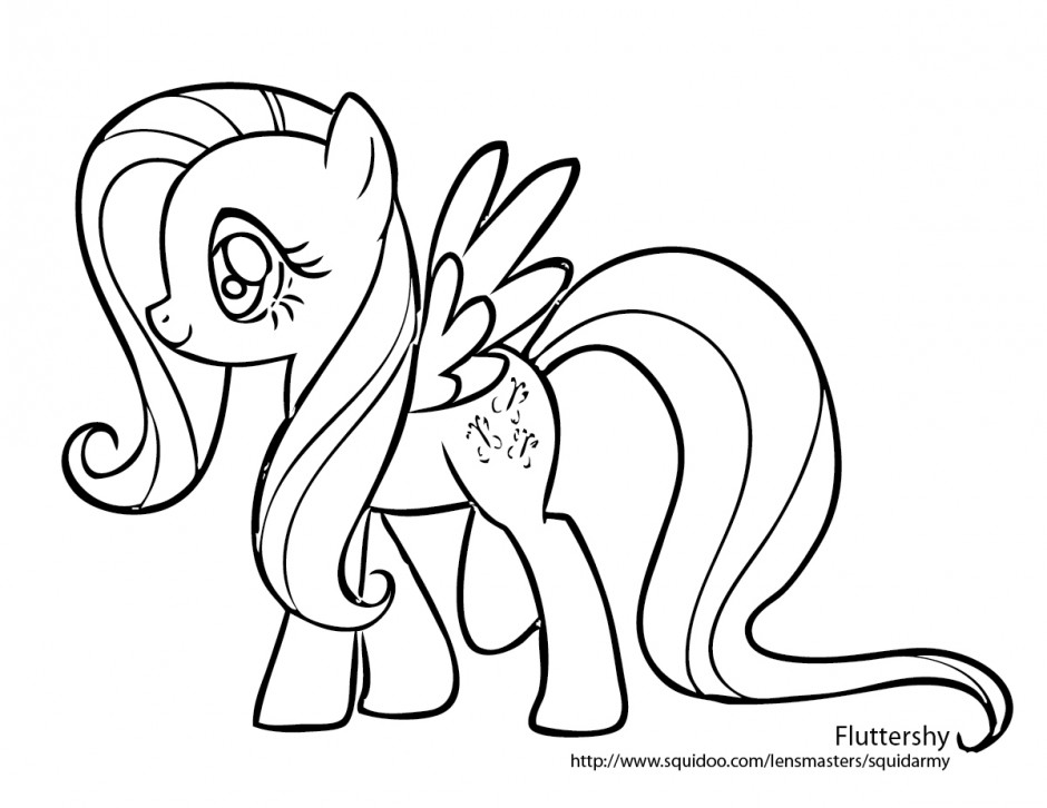 My Little Pony Coloring Pages Rainbow Dash And Fluttershy Free