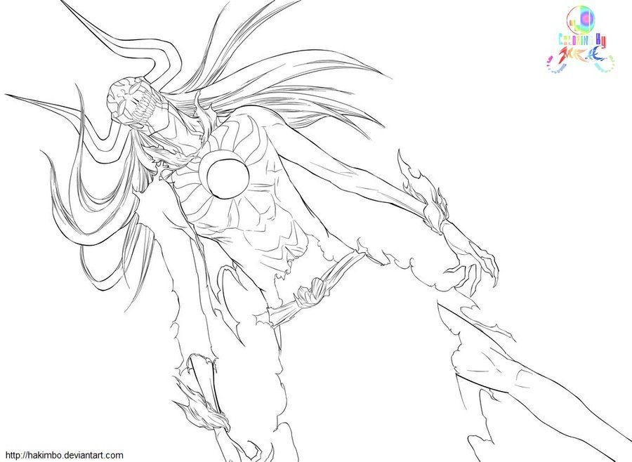bleach coloring book pages - photo#7