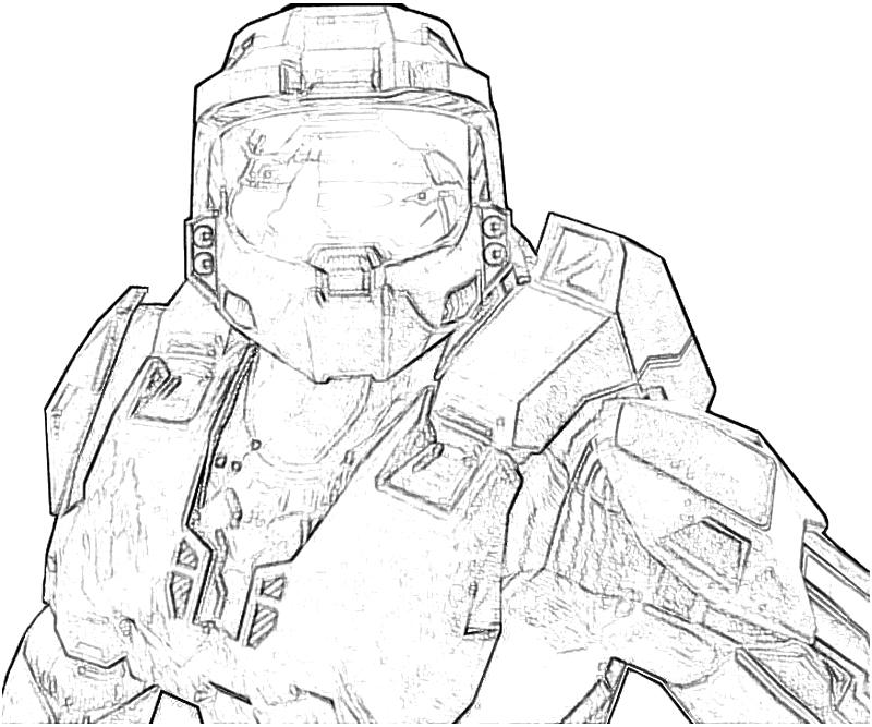 coloring pages halo 3 - photo #45