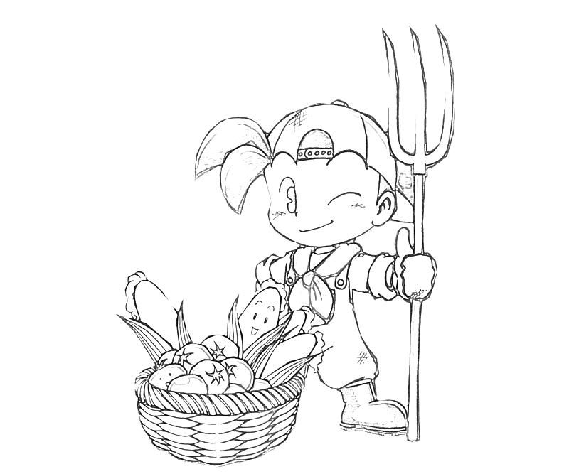 Harvest Moon Coloring Pages Jack Farming Coloring Pages