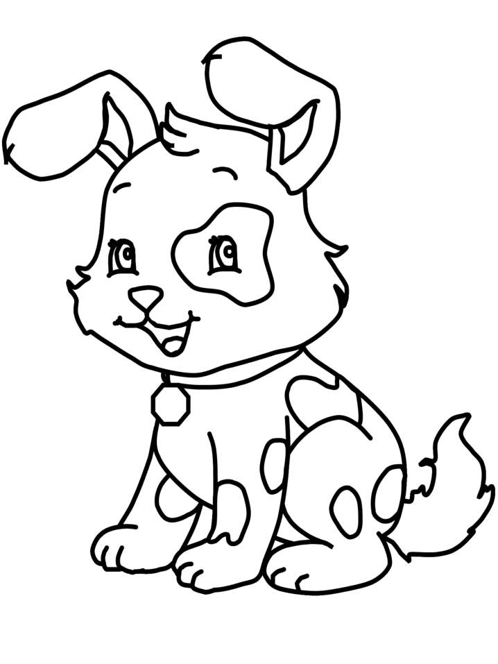 cute puppy coloring pages images - photo#5