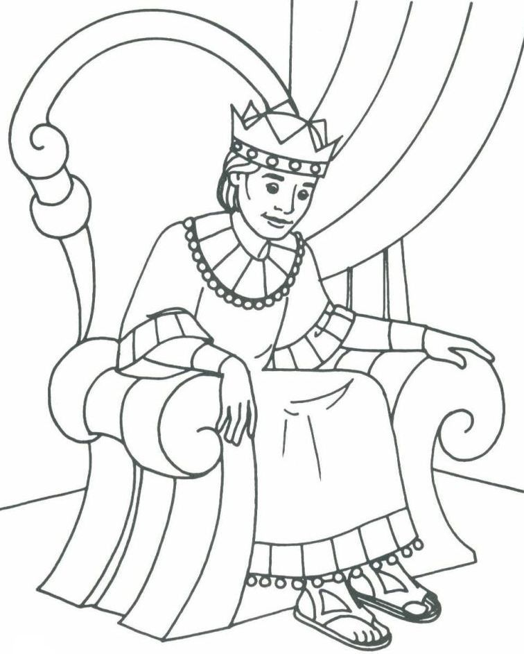 David Becomes King Coloring Page Az Coloring Pages The King Coloring Pages