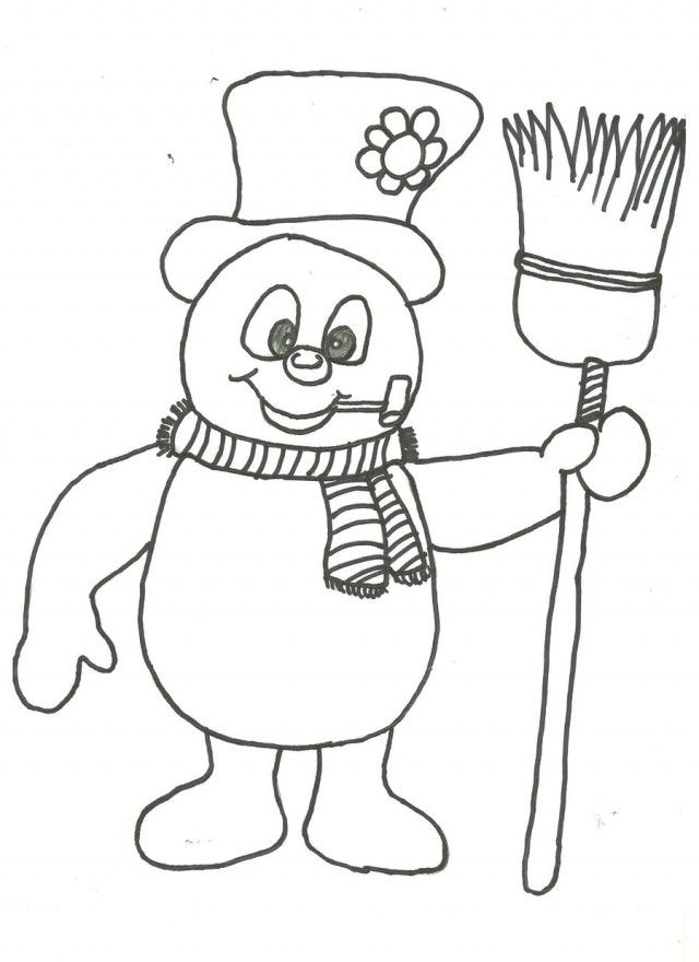 Frosty The Snowman Coloring Page Coloring Home Frosty Coloring Page
