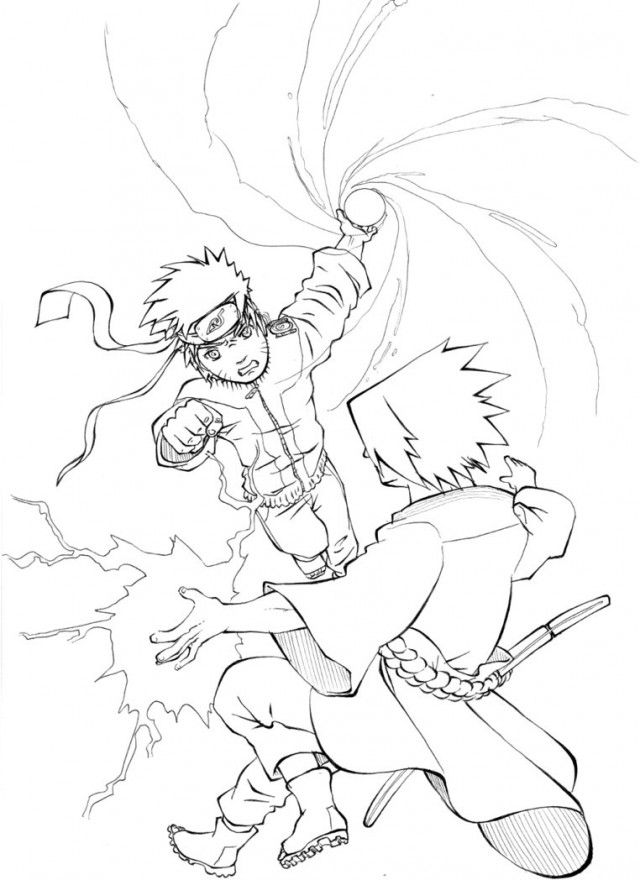 Naruto Coloring Pages Pdf : Naruto shippuden vs sasuke final battle coloring sheets
