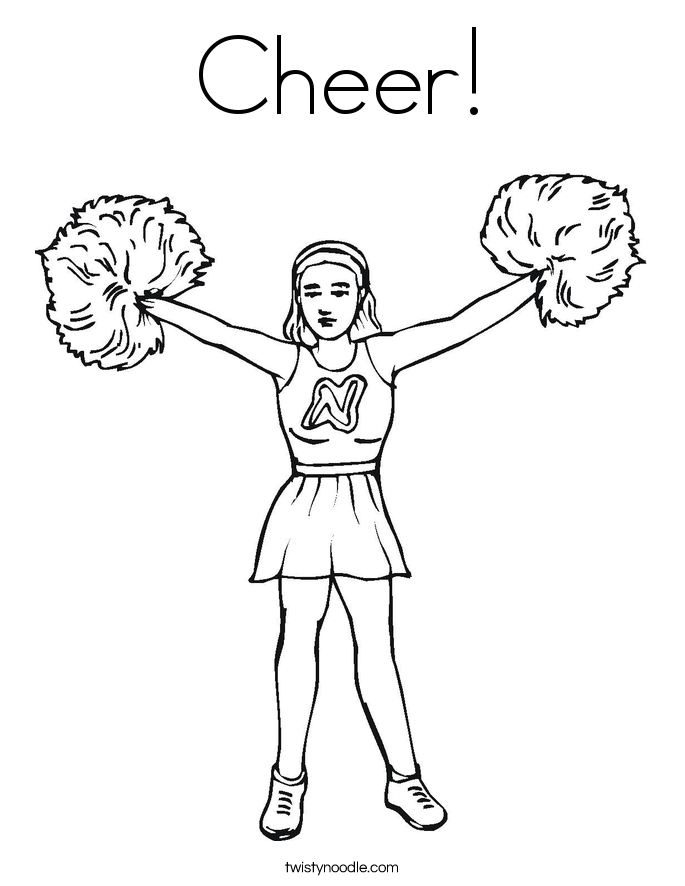Cheerleading Coloring Page Coloring Home