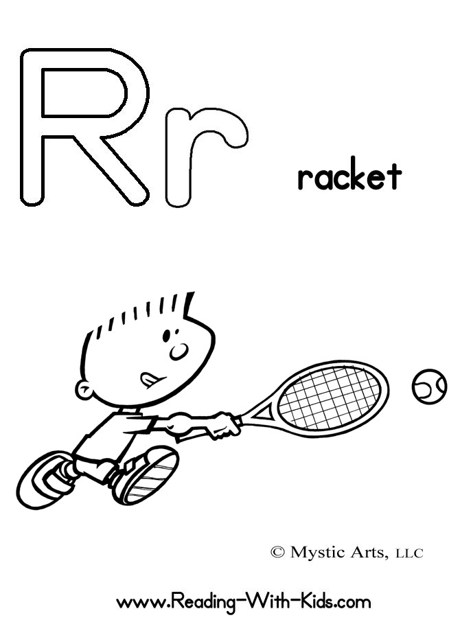 R Coloring Pages : Letter r coloring pages az