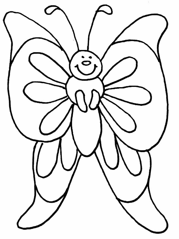 coloring pages painted lady butterfly - photo#33