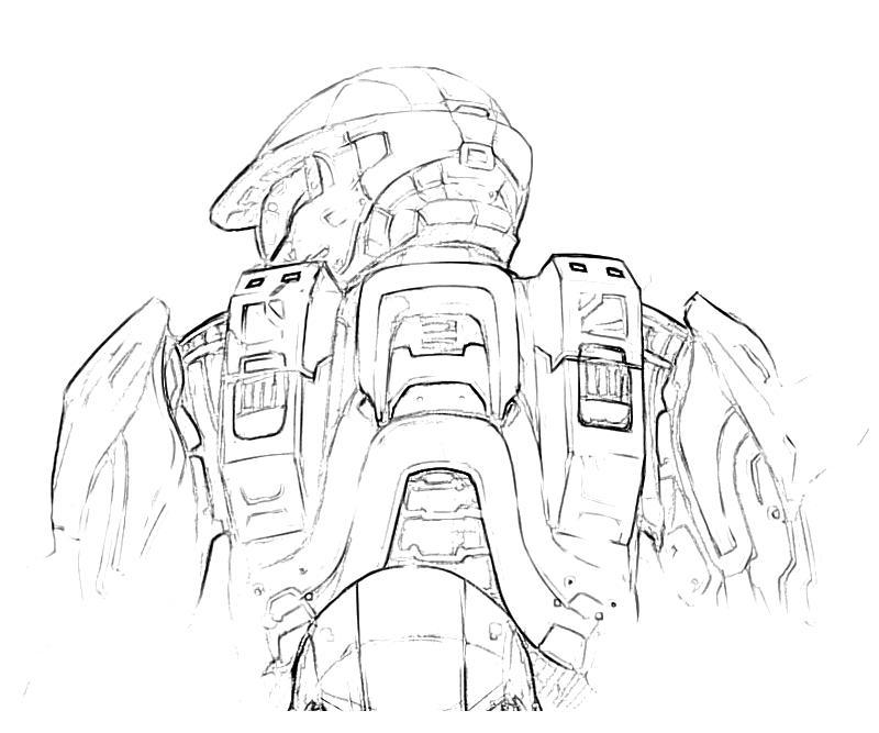 Halo Odst Coloring Pages Halo Coloring Pages