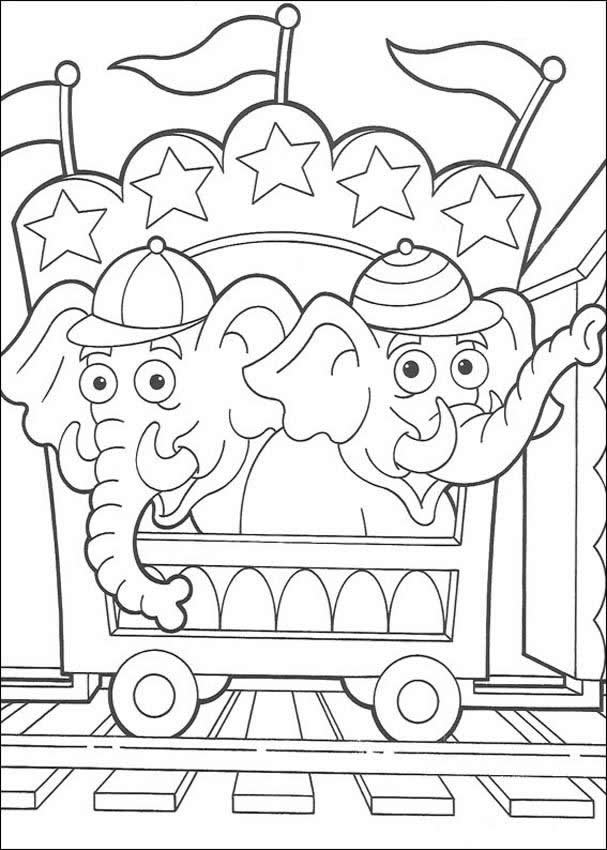 Circus Coloring Book - Coloring Home