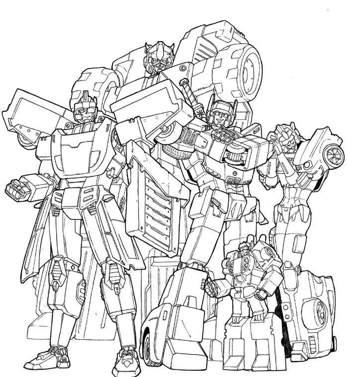 the real transformers coloring pages - photo#36
