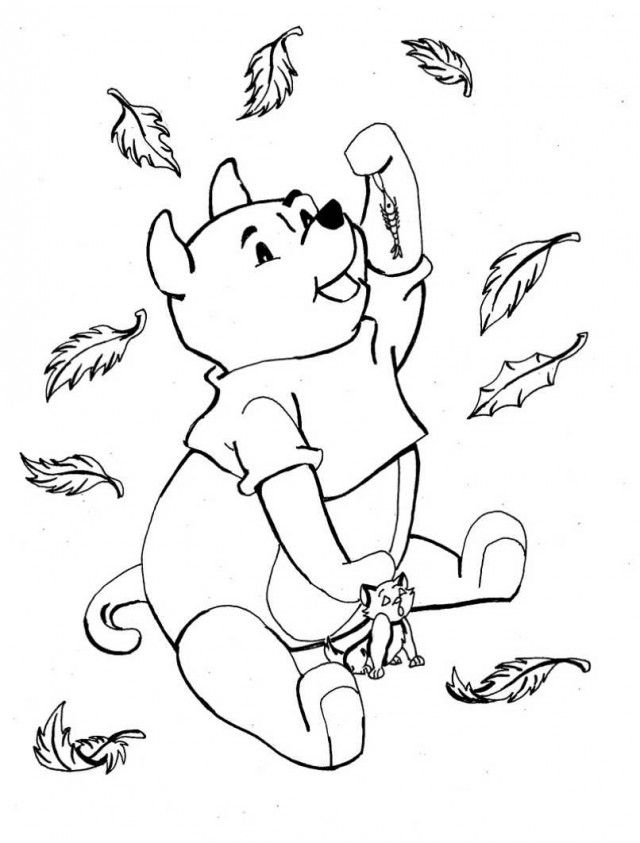fall leaves preschool coloring pages - photo#38