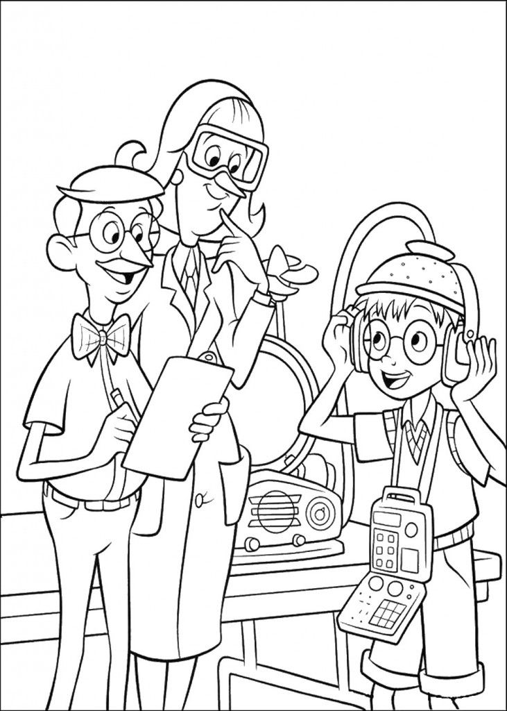 Cartoon: Detailed Meet The Robinsons Cl Coloring Books Picture