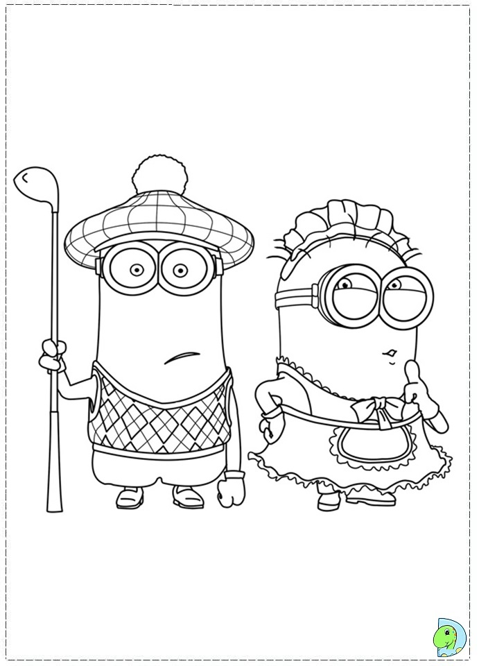cute despicable me coloring pages - photo#18