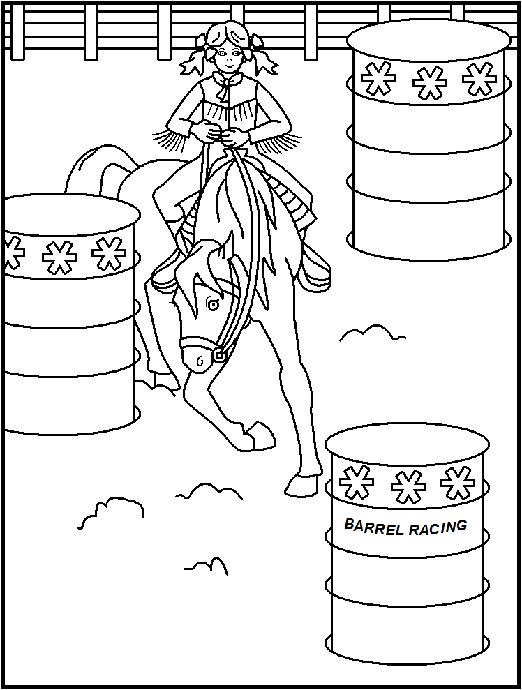 team roping coloring pages - photo#23