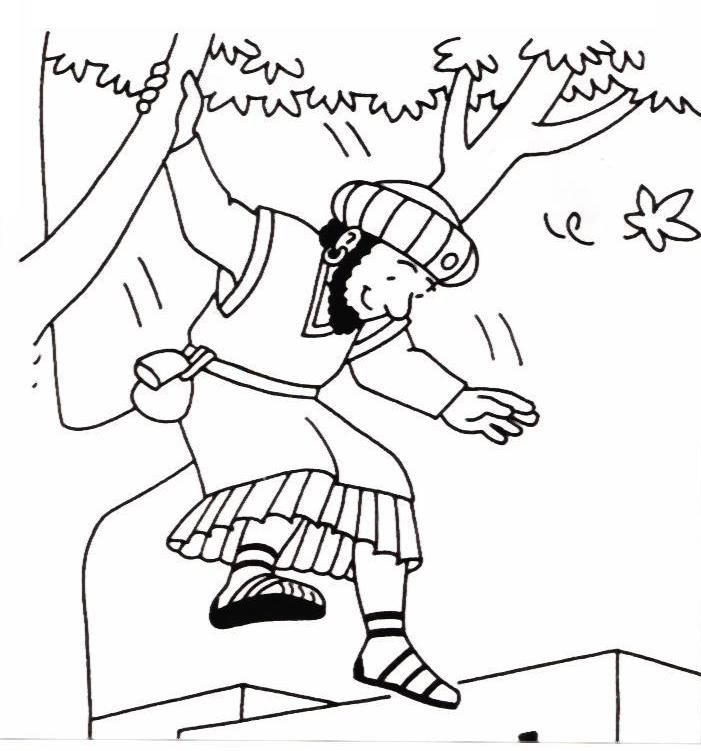 Bible story coloring pages zacchaeus Books Of The Bible Coloring