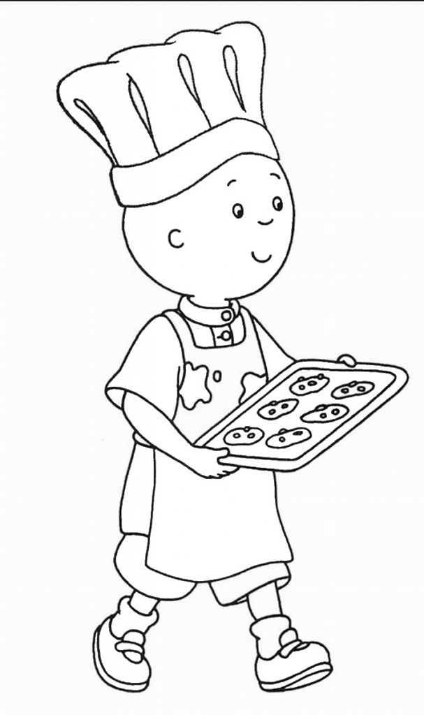Caillou Clipart Coloring Home
