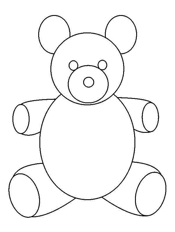 Drawing Using Shapes And Lines : Teddy bear outline az coloring pages