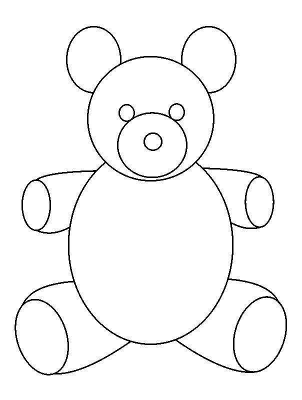 Teddy Bear Outline