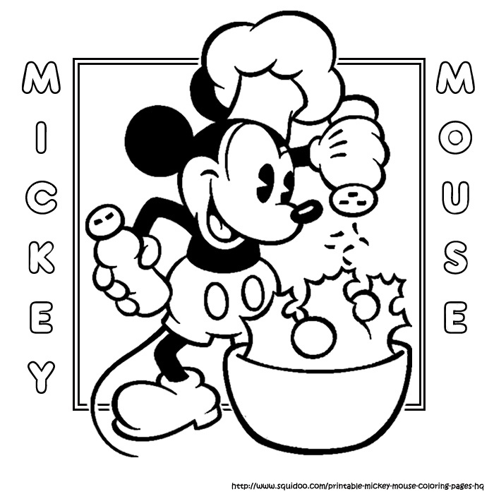 chef mickey coloring pages - photo#7