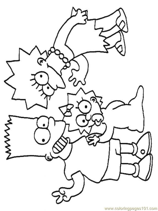 The Simpsons Coloring Pages To Print Coloring Home