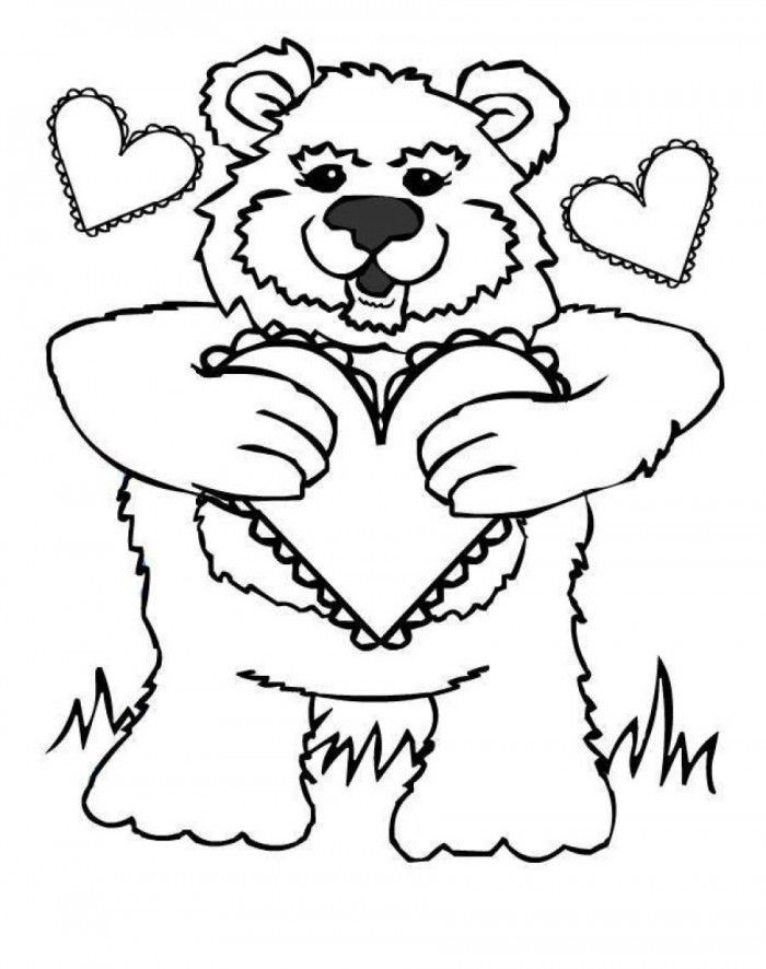 care bear valentines coloring pages - photo#48