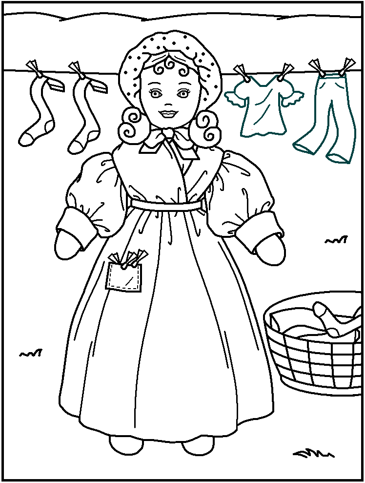 printable american girls coloring pages