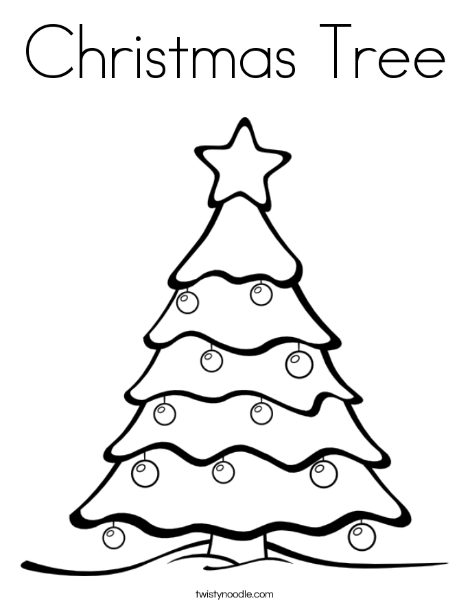 Coloring Pages Christmas Tree | Coloring Pages