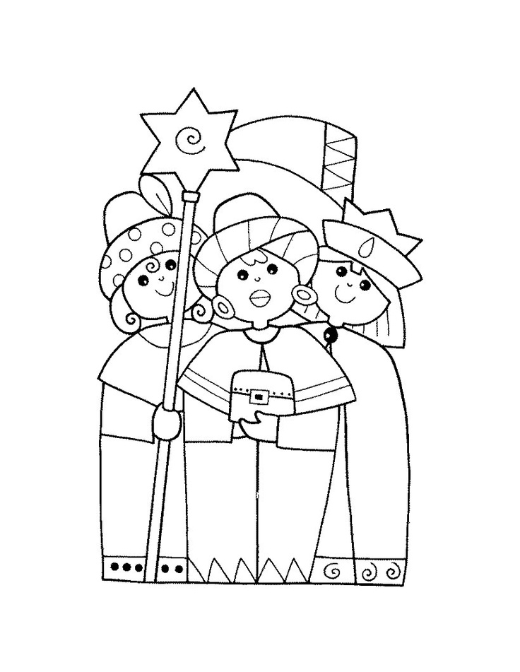 Wise Men coloring page | The three wise men