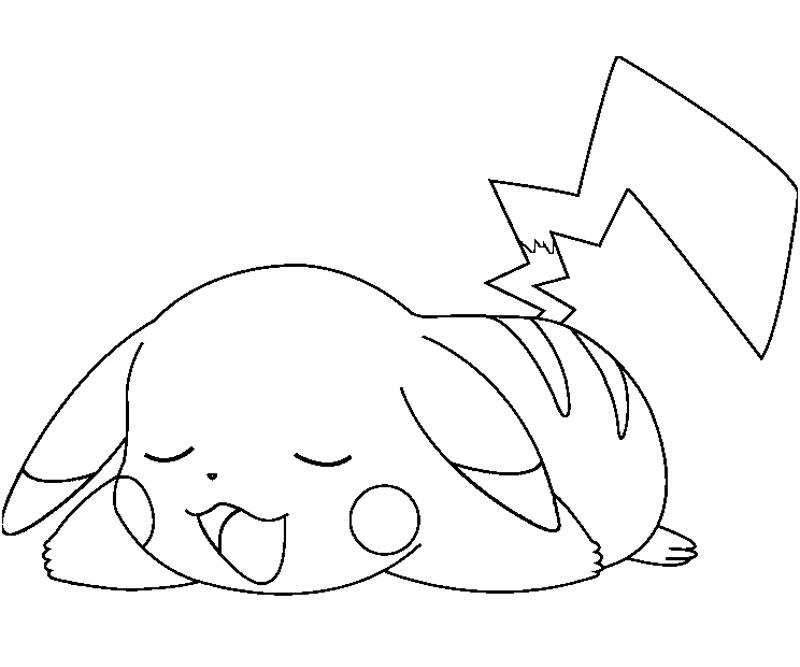Pokemon coloring pages pikachu az coloring pages for Pikachu coloring page
