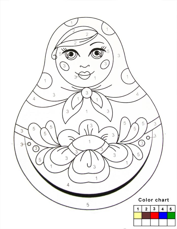 Crafts For Kids How To Paint Matryoshka Nesting Dolls Coloring Home