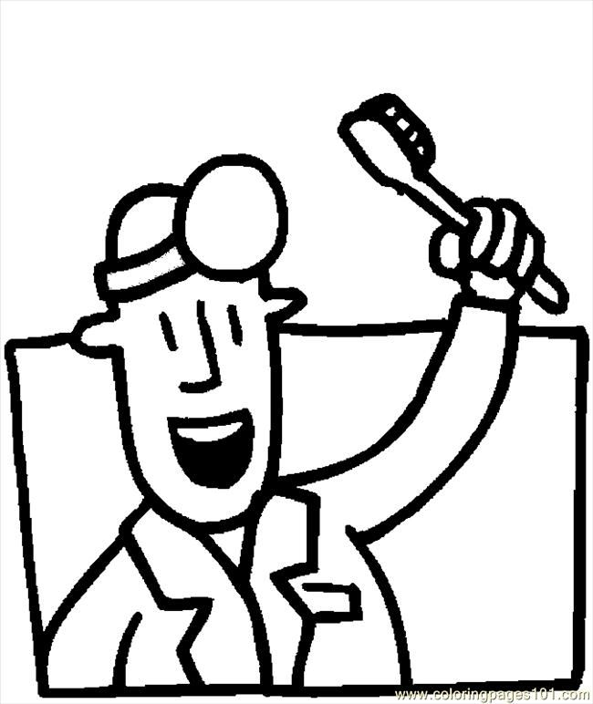 coloring pages dentist 09 2 peoples doctors free printable