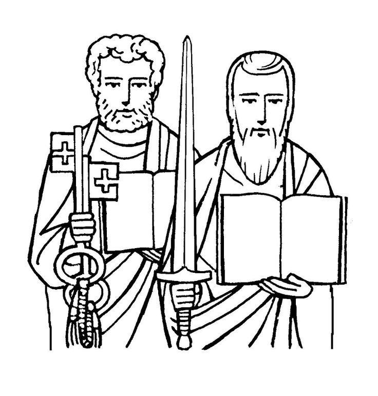 Paul Coloring Pages Coloring Home St Coloring Page Catholic