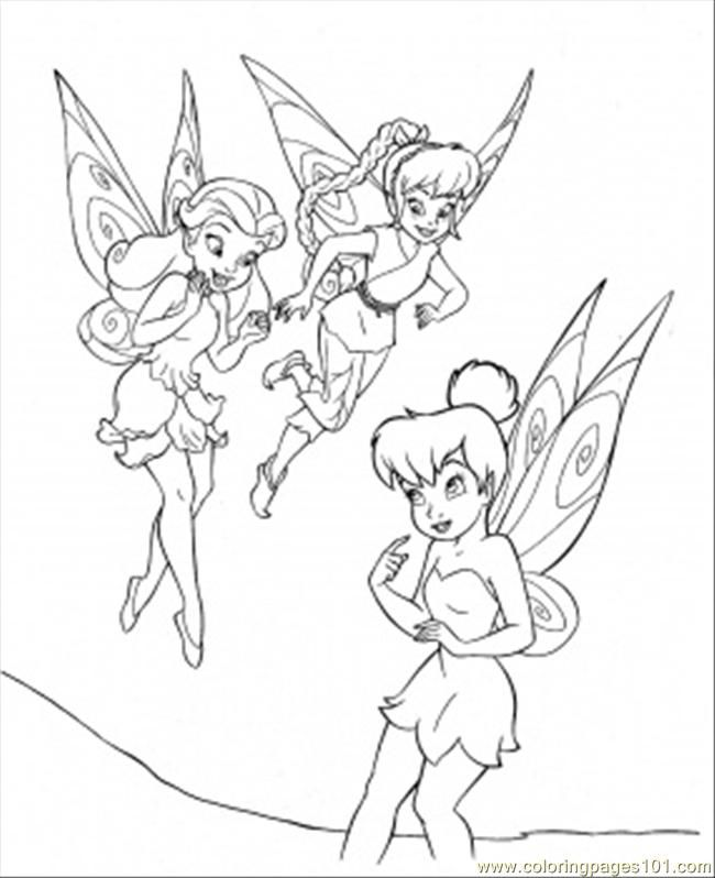 Free Disney Fairies Coloring Pages Print