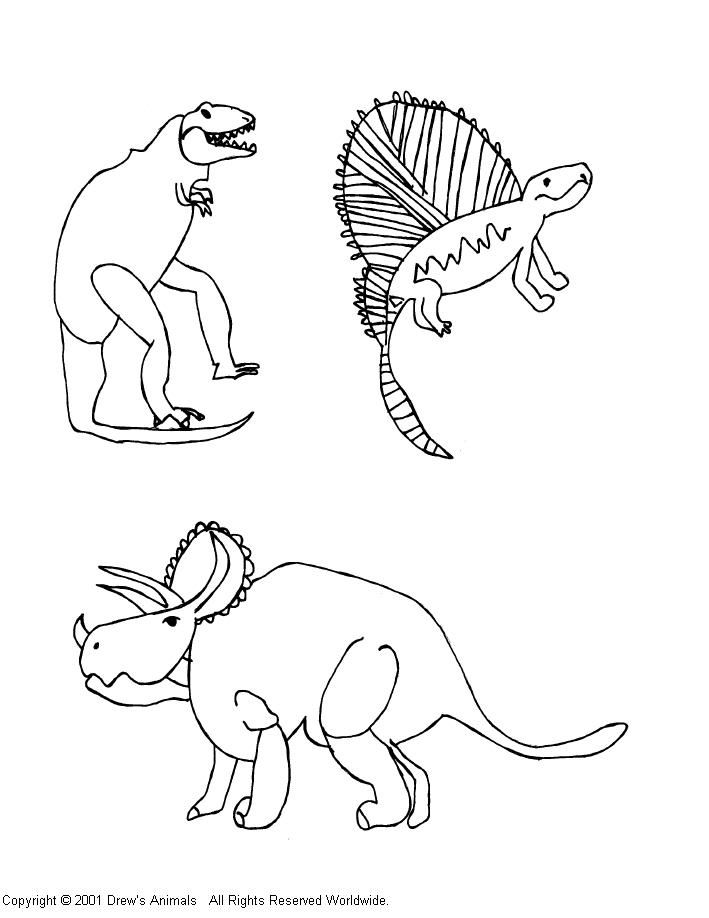 Dimetrodon Coloring Pages Printable