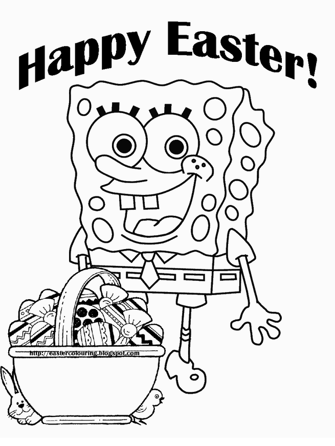 Spongebob Easter Coloring Pages - Coloring Home