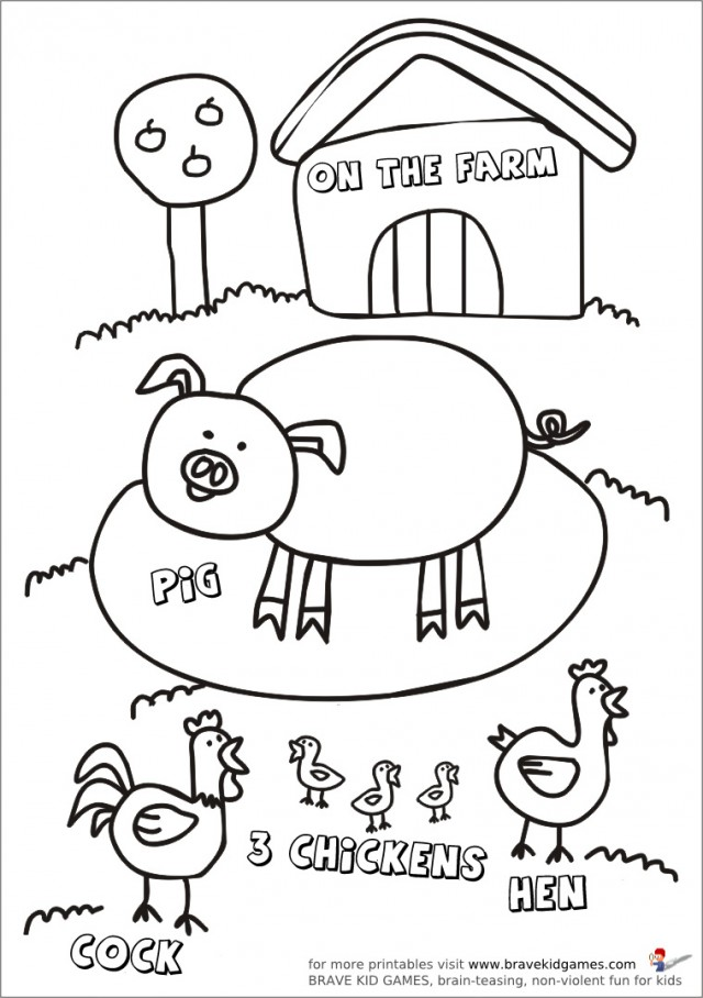 free printable farm animals az coloring pages. Black Bedroom Furniture Sets. Home Design Ideas