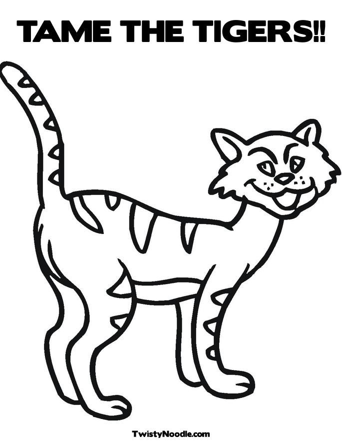 detroit tiger coloring pages - photo#32