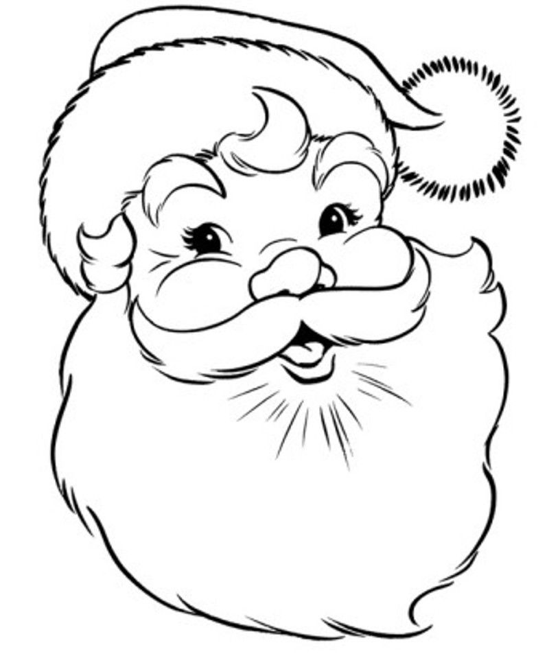 coloring pages with santa - photo#5