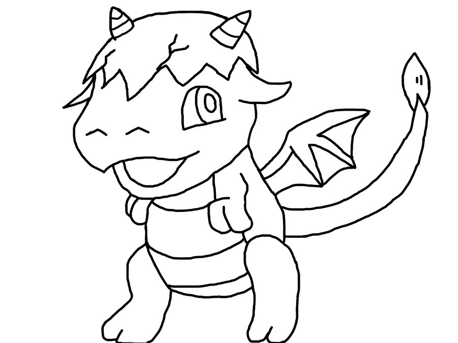 Baby dragon pics az coloring pages for Baby dragon coloring pages